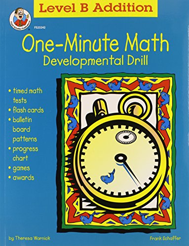 One-Minute Math: Level B Addition Sums 11 to 18 (FS-23242)