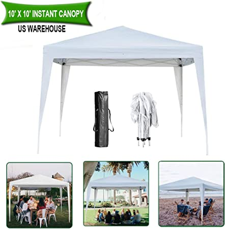 Heavy Duty Stronger Waterproof White 3x6m Gazebo Garden Canopy Tent With 4 Sides