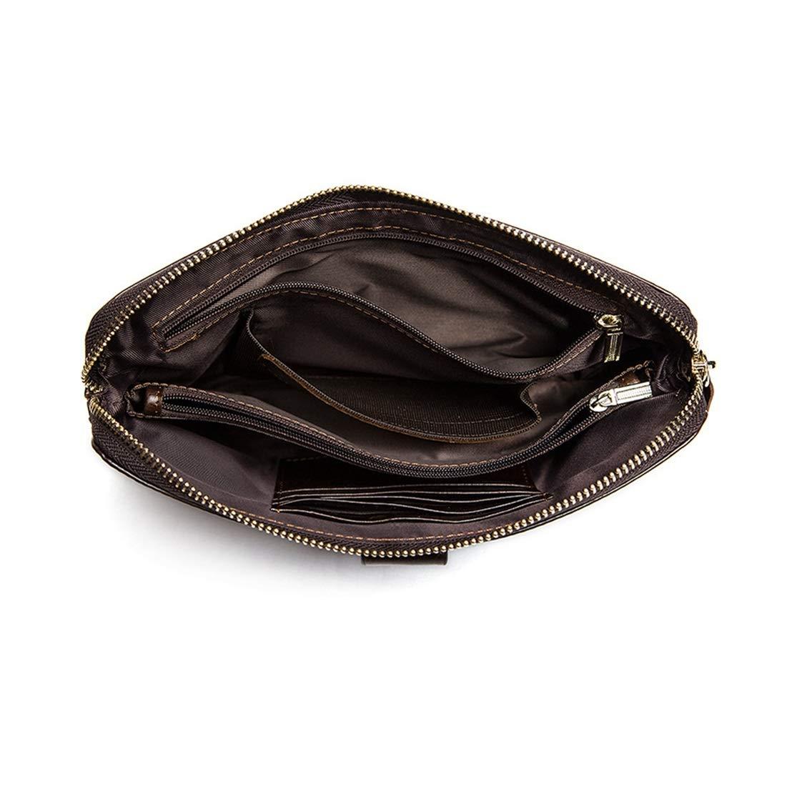 Color : Black KRPENRIO Leather Mens Purse Wallet Wallet Leather Business Mens Clutch Bag Mobile Phone Bag Purse