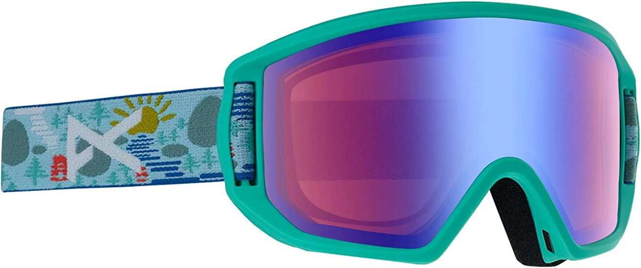 Amazon Com Anon Kids Relapse Jr Goggle With Mfi Mask Asia Fit Backwoods Frame Blue Amber Lens Sports Outdoors