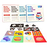 Barwa Flash Cards for Infants, 64 Cards - 128 Pictures Baby High Contrast Flash Cards Educational Toy Black & White…