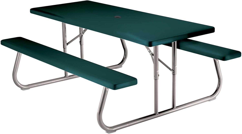 - Amazon.com : Lifetime 22123 Folding Picnic Table, 6 Feet, Hunter