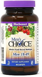 Bluebonnet Nutrition Men's Choice Whole Food-Based Multiple for Men 18-49, 90Count Caplets