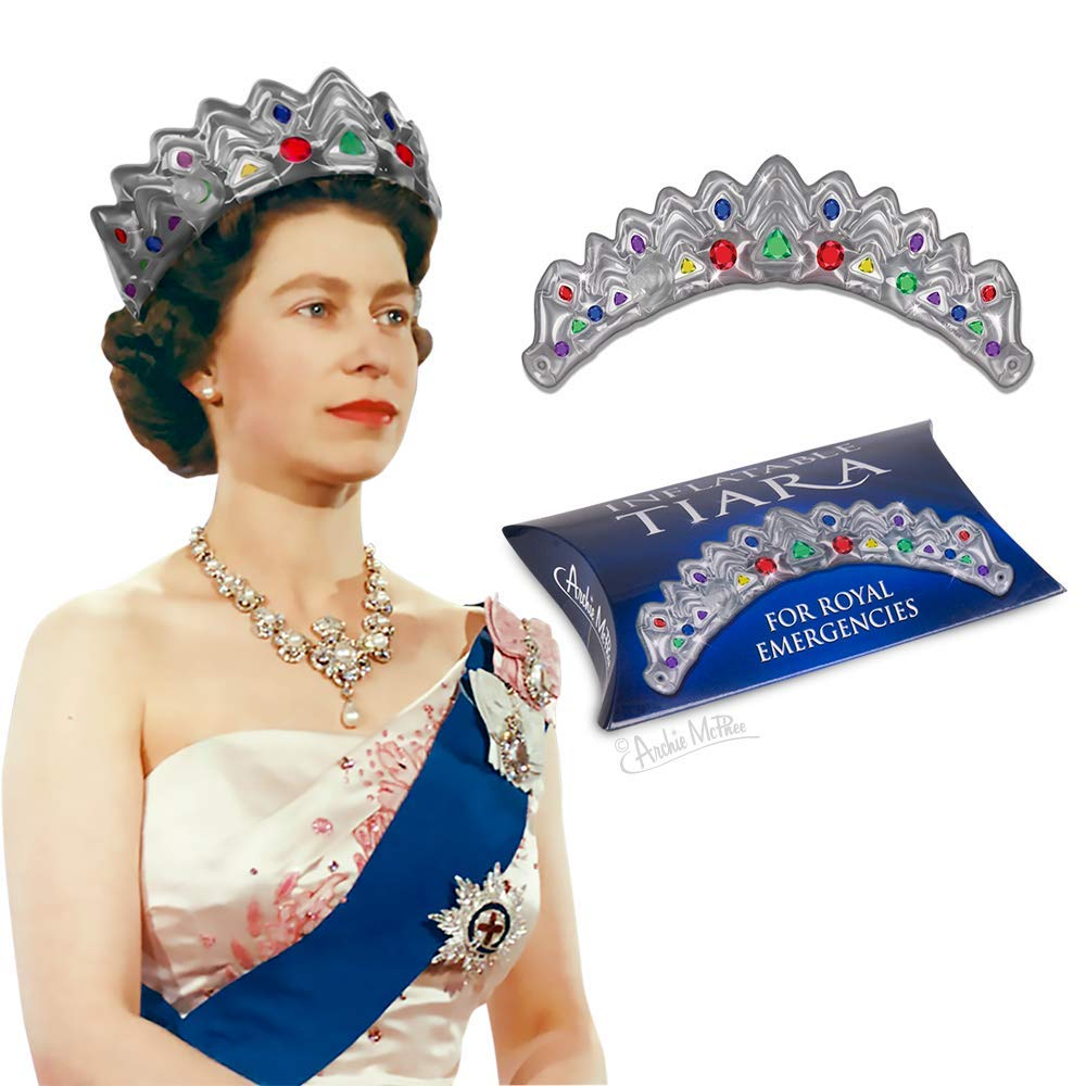 for Royal Emergencies Archie McPhee Inflatable Tiara