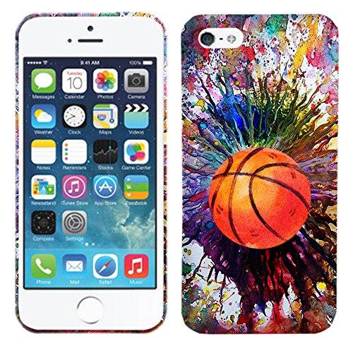 Glisten - Designer Hard Plastic Case for iPhone SE / 5 / 5S - Vintage Color Basketball. Slim Profile Cute Printed Designer Snap on Case by Glisten