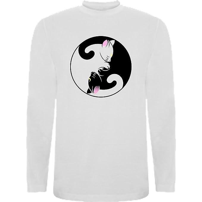Camiseta Manga Larga de Mujer Gatos Dicvertida Animales: Amazon.es: Ropa y accesorios