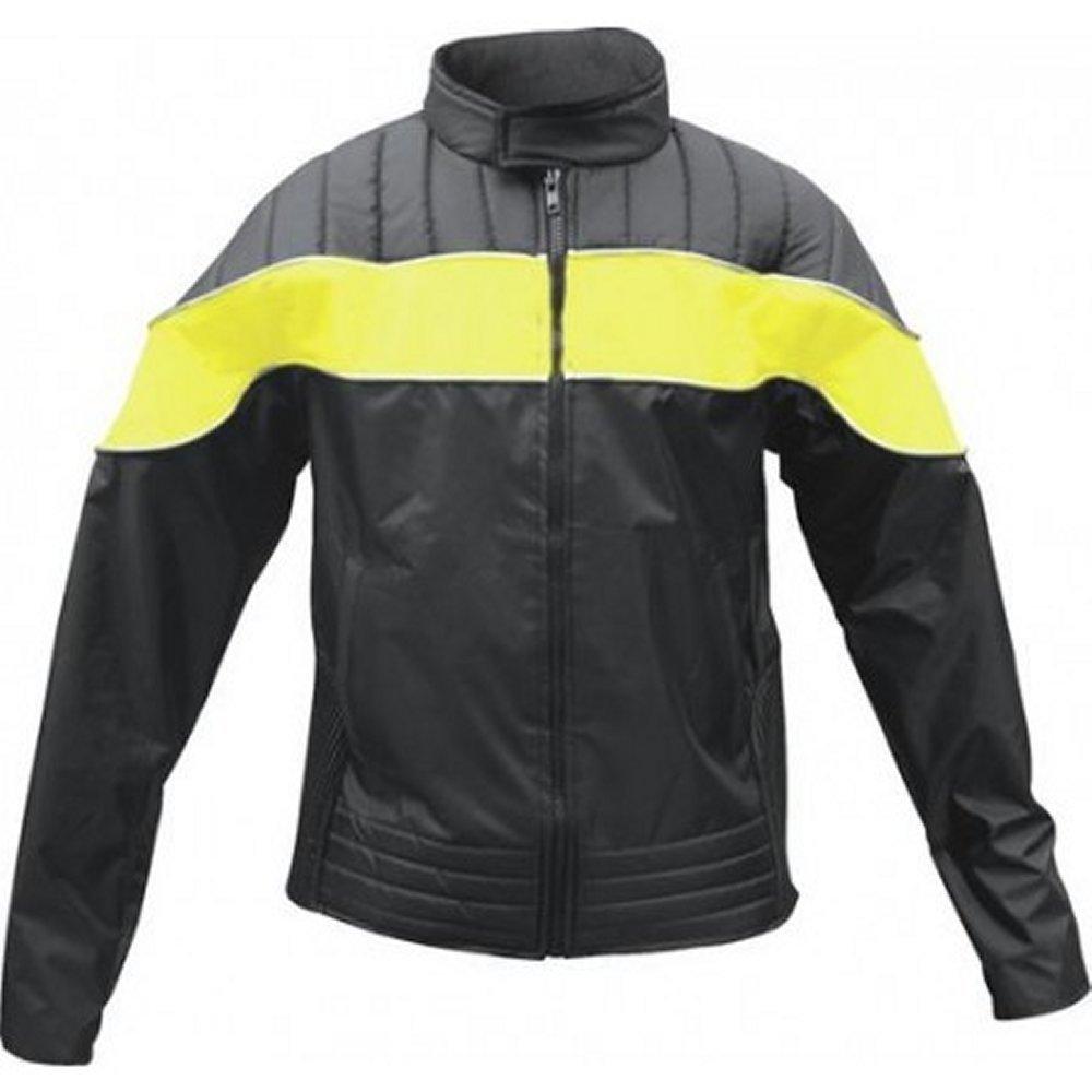 Ladies Yellow/Black Reflective Water Resistant Jacket AL2193 (3XL)