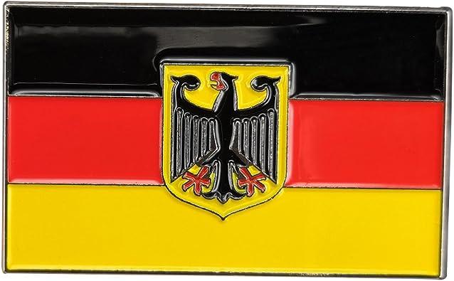 GuDeKe Bandera de Bandera de Estado alemán Placa de Insignia de águila de Alemania: Amazon.es: Joyería