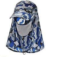 WOAIMAOZI Sombrero Camuflaje Equitación Motocicleta Protector Solar Máscara