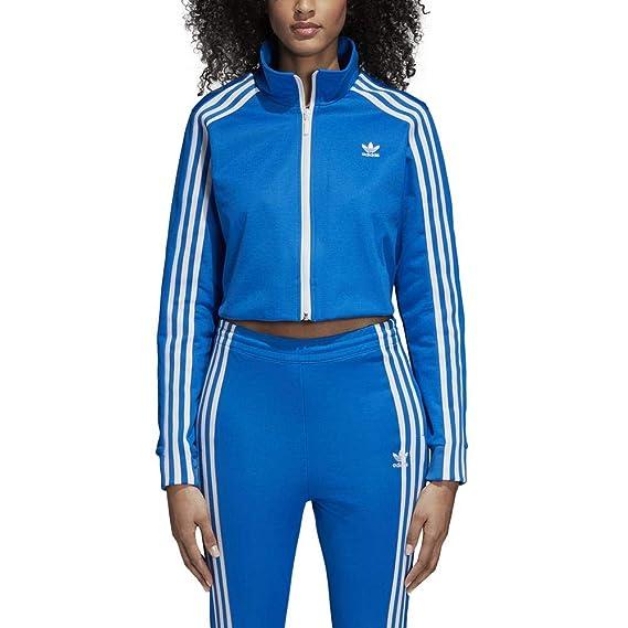 fba2fe2ba84147 adidas Track Top - Track Top Blue Size  8 USA - 12 UK - M (Medium)  Amazon.co.uk   Clothing