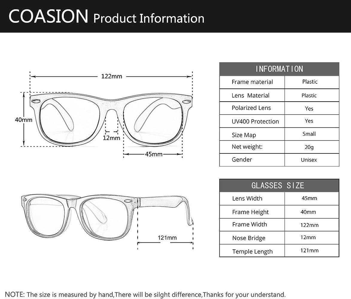 CGID Rubber Flexible Kids Polarized Sunglasses for Baby Children Age 3-6,K93