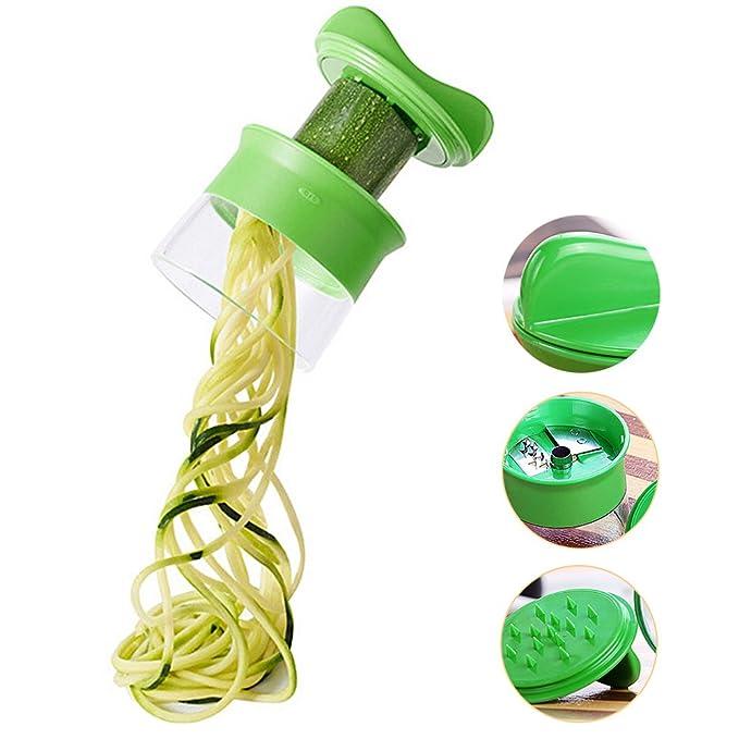 Rallador de frutas en espiral para verduras y verduras ...