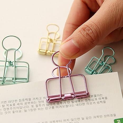 samzary Alicate Metal pinzas dibujo papel para documentos suministros de oficina 3pcs, metal, a