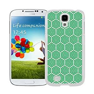 BINGO cool Green Honeycomb Watercolor Samsung Galaxy S4 i9500 Case White Cover