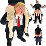 Rubber Johnnies TM Piggy Ride On Back Donald Trump Costume, Donald Trump Mask, USA President