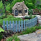 Cheap Colorful Picket Fence, Color Options for Miniature Garden, Fairy Garden, Blue
