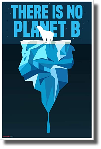 amazon com there is no planet b polar bear new environmental awareness poster office products
