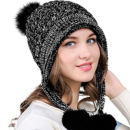 cf67936743d Wireless Beanie Music Knitted Hat Cap with Stereo Headphone Headset Speaker  Wireless Mic Hands-Free
