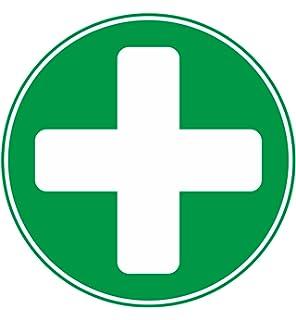 Etichetta Sicurezza Avvertenza Simbolo Di Pronto Soccorso
