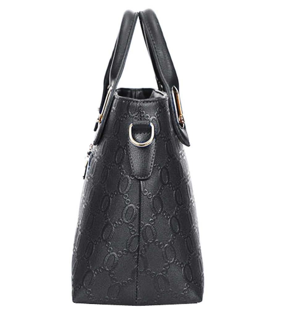 39c8e395e49b1 Fashion Women PU Leather Handbag Shoulder Bag Tote Bag Purse Bags 4 Pcs Set  … Coofit larger image