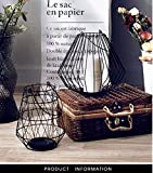 Simple creative iron living room cut off dried vase flower candlestick lantern art decoration home-Black big 41010inch