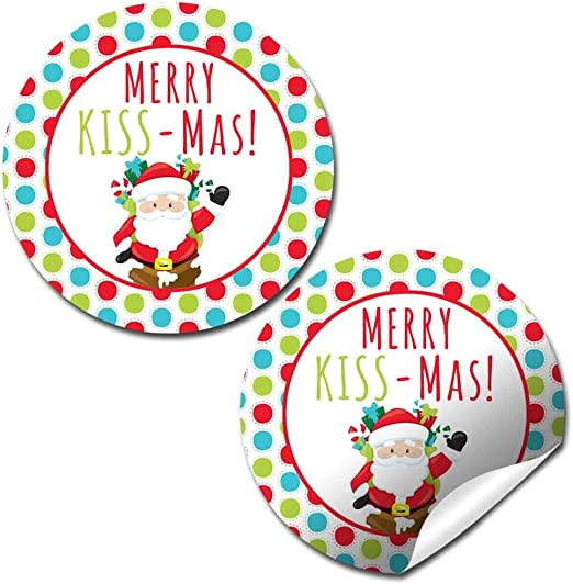 "Labels 63 Santa Claus Christmas Holiday Envelope Seals Stickers 1/"" Round"