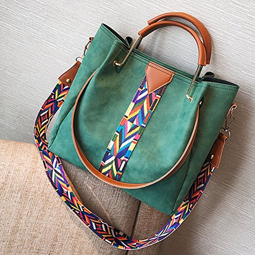 mujer 2 de hombro bolsas grandes Bolso Verde PU piezas bandolera para bolso Verde de Piel Bolsas de AwOq1FnvOW