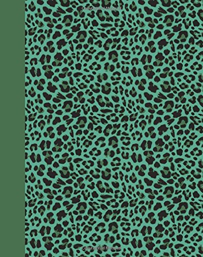 Journal: Animal Print (Green Leopard) 8x10 - GRAPH JOURNAL - Journal with graph paper pages, square grid pattern