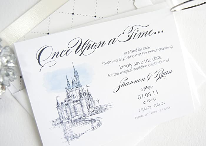 Amazon Fairytale Wedding Disney World Inspired Save the – Disney Fairytale Wedding Invitations