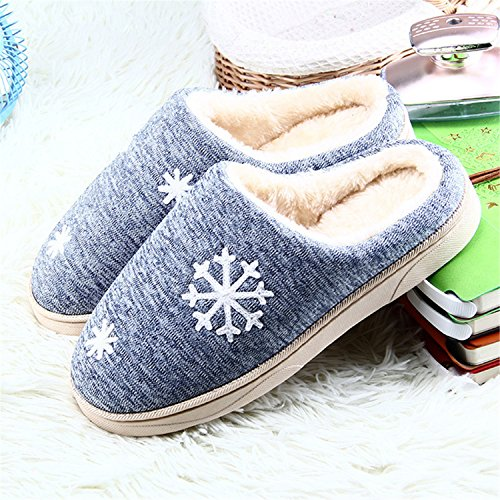 Blue Slippers Slippers Slippers Ful Plush Sheep Indoor Lovers Winter Cotton Size Women Women Home Warm 5Men qaUZX1