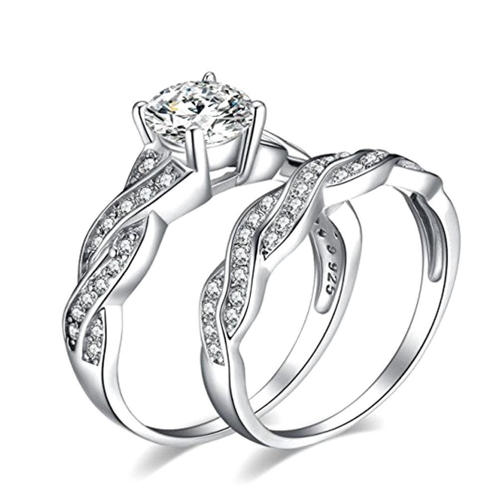 Amazon Wensltd Clearance Anniversary Promise Wedding Band Engagement Ring Bridal Sets Love Sports Outdoors: Bridal Wedding Ring Sets Clearance At Websimilar.org