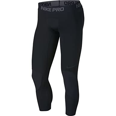 0f3a8696e0 Amazon.com: Nike Pro Dri-FIT Men's 3/4 Basketball Tights: Clothing