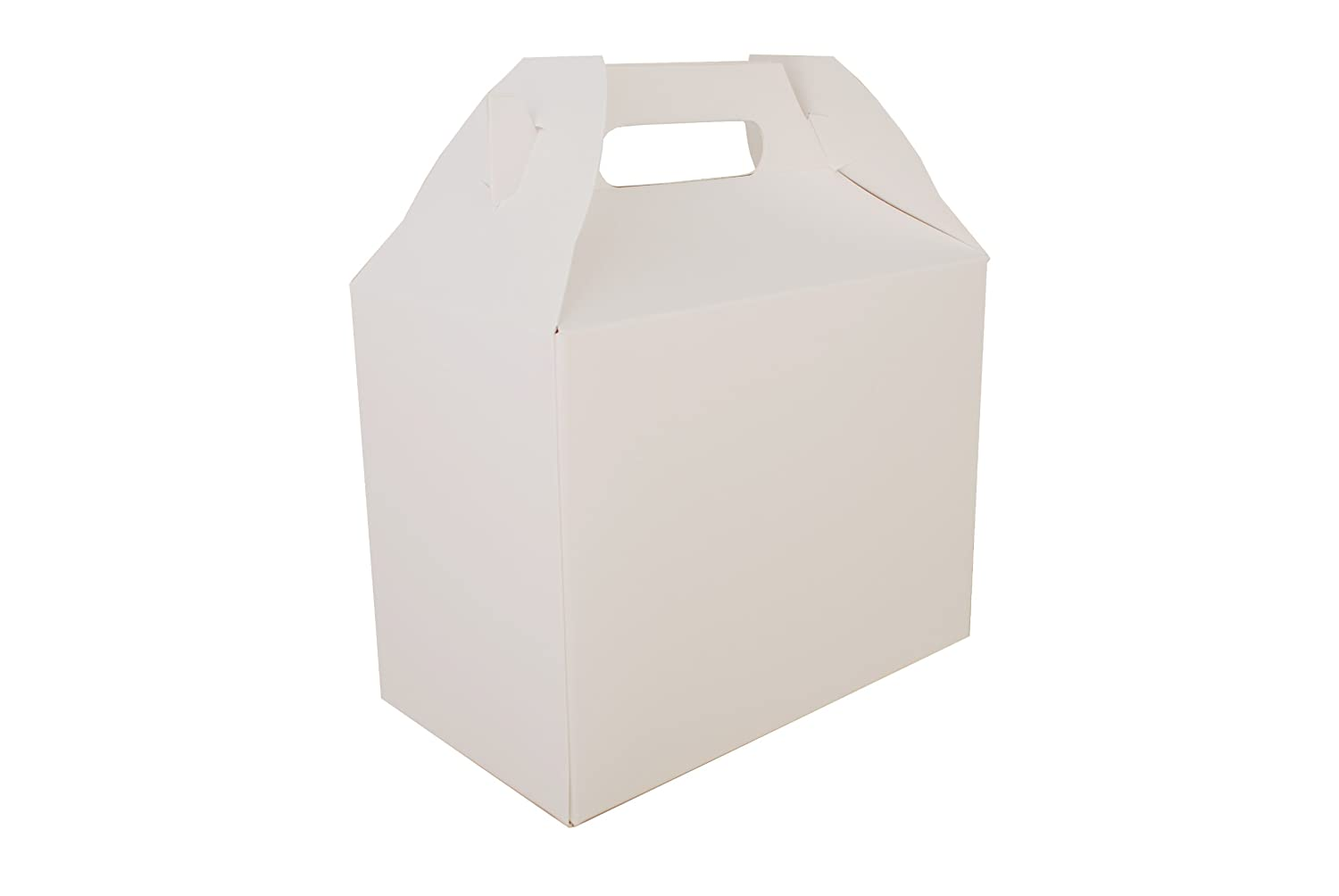 Southern Champion Tray 2709 Paperboard White Large Barn Style Carry Out Box, 10 lbs Capacity, 8-7/8