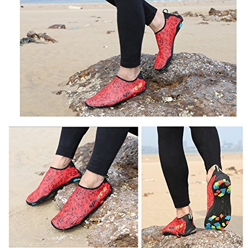 Chaussure Croix Pour Barefoot Natation Water La Aqua Saguaro Rouge Skin Plage Yoga rZafvrq