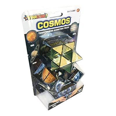 California Creations The Amazing Star Cube: 2 Piece Transforming Geometric Puzzle - Solve The Cube To Find The Hidden Star Cosmo Edition: Toys & Games