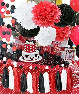 amazon com 6 disney minnie mouse red polka dots party invitations