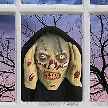 scary peeper zombie halloween prop spooky holiday decoration true to life motion activated peers in your window