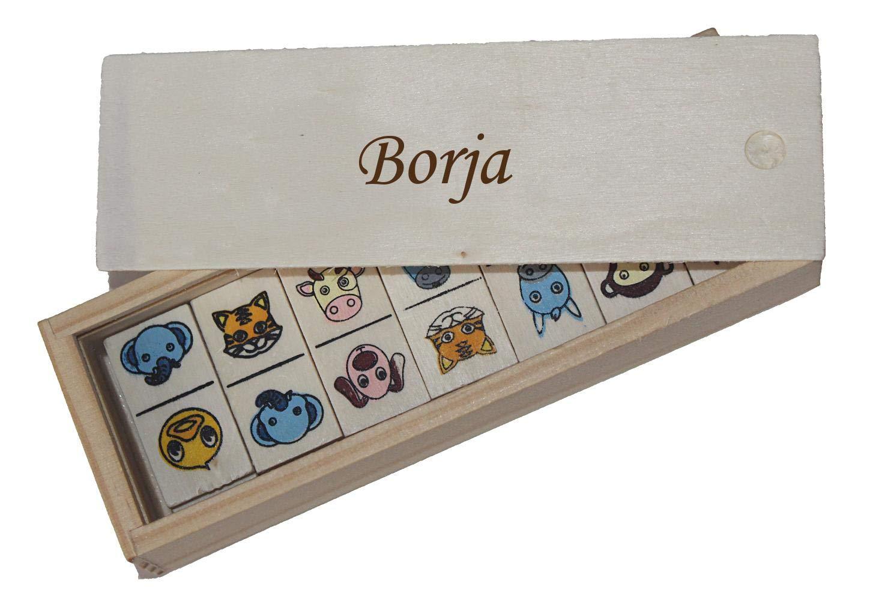 Nombre de Pila//Apellido//Apodo Shopzeus Domin/ó Infantil en Caja de Madera con Nombre Grabado Borja