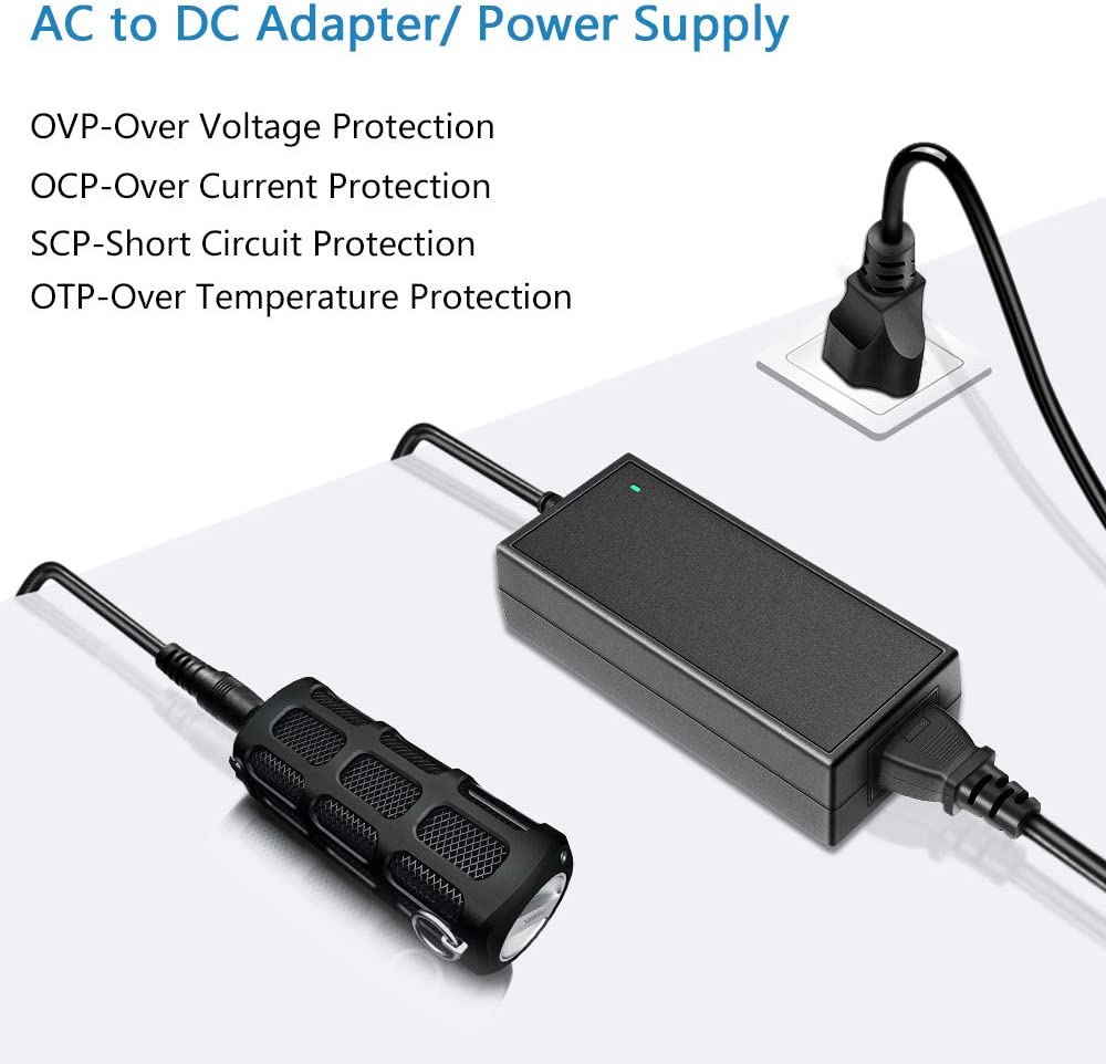 SHNITPWR 12V 6A AC DC Power Supply Adapter Converter 100V~240V AC to DC 12 Volt 6 Amp 72W LED Driver Transformer with 5.5x2.5mm Plug for 5050 3528 LED Strip 3D Printer CCTV Security System LCD Monitor