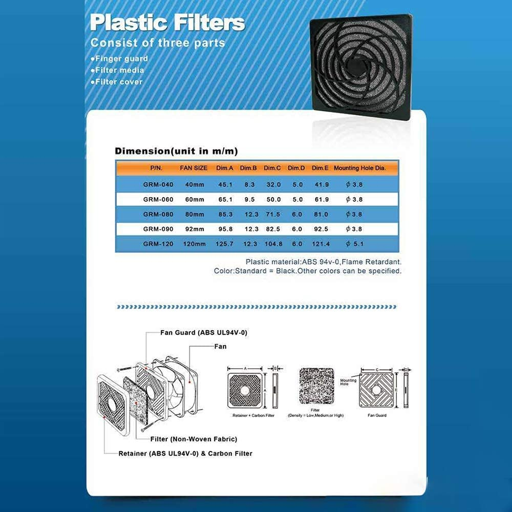 Size:4cm 10PCS Computer Fan Chassis Dustproof Net Case Cover