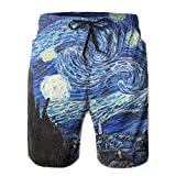 2018 pants Starry Night Men's Boy's Casual Quick-Drying Beach Pant Swim Board Shorts