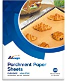 """Unbleached Parchment Paper Cookie Baking Sheets - 12 x 16"""" Exact Fit For Your Half Sheet Pans - Non-Stick - Oven Safe - will Not Curl & Burn -100 Sheets In A Storage Box"""