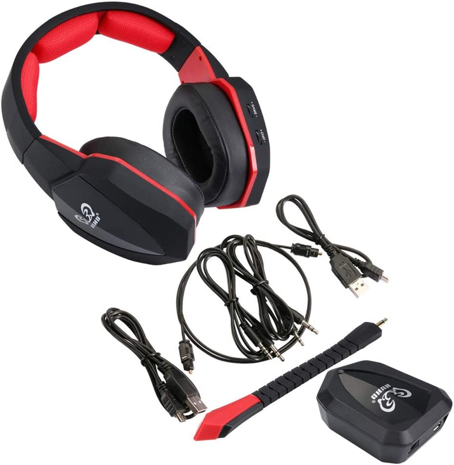 CITW Surround Sound Stereo Headset 2.4Ghz Optical Wireless Gaming Headset Headphone for PS4//3 Xbox 360//One PC TV Earphones