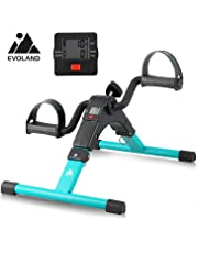EVOLAND Pedal Exerciser Bike, Portable Home Fitness Mini Exercise Bike, Arm Leg Folding Exerciser Fitness Cycling with LCD Monitor and Adjustable Resistance