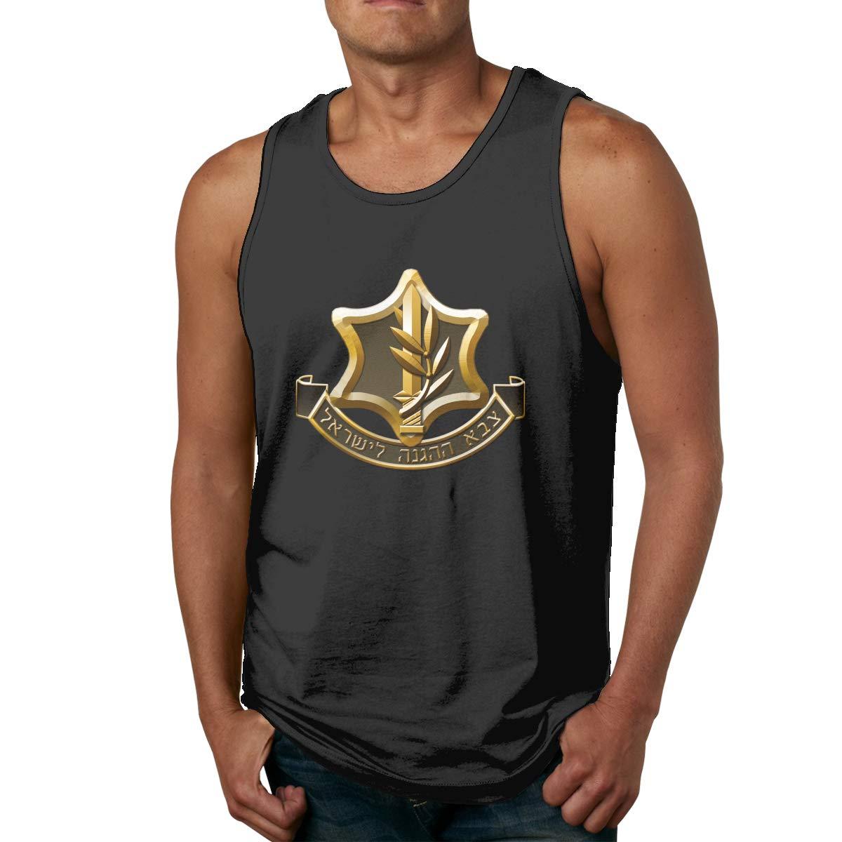 IDF Israeli Defense Force Logo Mens Printed Vest Sports Tank-Top Shirts Leisure Sleeveless T Shirt