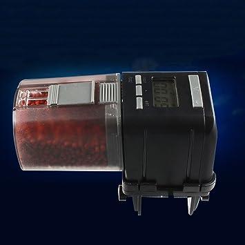 Alimentador Automático Del Acuario, Dispensador Automático De Alimentos Para Peces Alimentador De Temporizador Electrónico Para Peces Tanque Con Pantalla ...