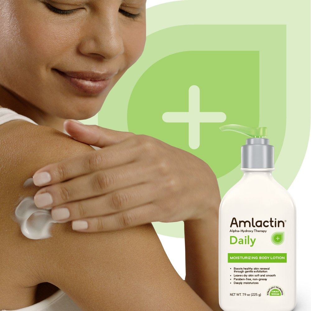 AmLactin Daily Moisturizing Body Lotion, 7.9 Ounce (Pack of 1) Bottle, Paraben Free : Beauty