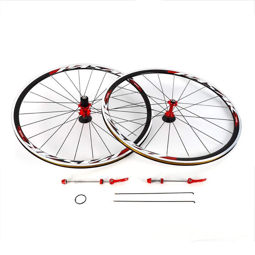 NOPTEG 700C Bicycle Bike Wheel Front Rear Wheel Wheelset Aluminium Alloy Rim 30mm USA by NOPTEG (Image #7)
