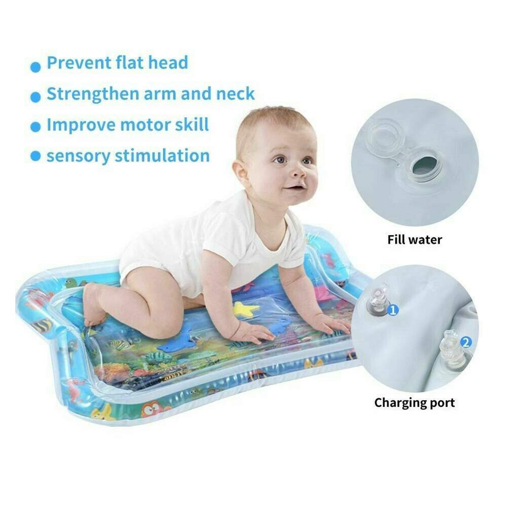 yangGradel Water Filled Baby Inflatable Patted Pad Inflatable Water Cushion Playmat for Kids