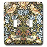 3dRose lsp_219390_2 William Morris Strawberry Thief Pattern - Double Toggle Switch